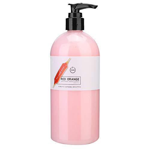 Champú, 500 ml de champú anticaspa de control de aceite refrescante rojo anaranjado, adecuado para productos para el cuidado del cabello para el hogar o la peluquería
