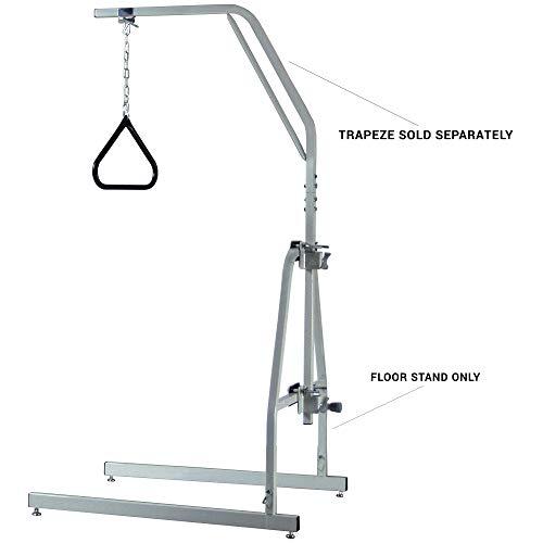 Graham-Field Lumex Floor Stand for Versa-Helper Bed Trapeze, Gray, 2840GA