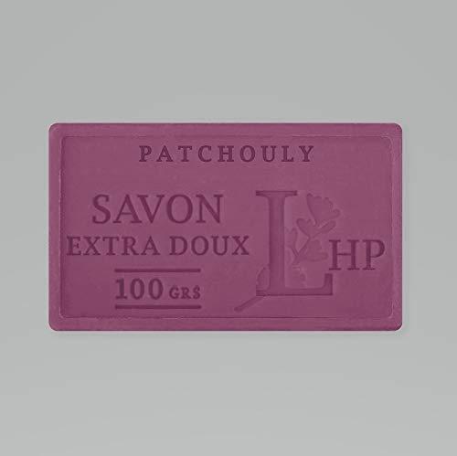 PRODUIT DE PROVENCE - PATCHOULY - SAVON DE MARSEILLE EXTRA DOUX 100 G - DÉLICAT PARFUM NATUREL DE PATCHOULY - GARANTI SANS PARABEN