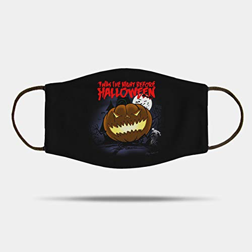 TWAS The Night Before Halloween Mask Fabric Face Mask,Washable and Reusable Mask, Xmas Gift