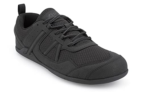 Xero Shoes Prio - Men's Minimalist Barefoot Trail and Road Running Shoe - Fitness, Athletic Zero Drop Sneaker Black