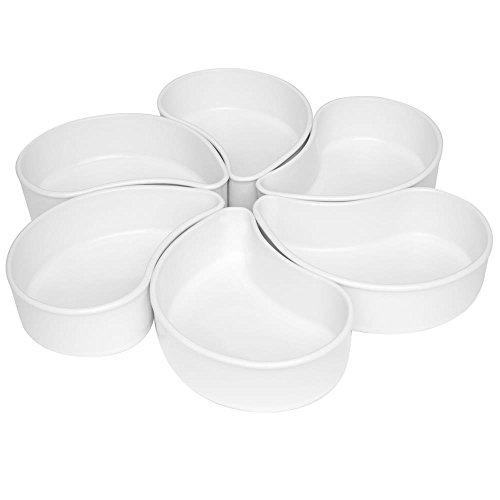 1 Conjunto com 6 Petisqueiras Oxford Daily Petisqueira Branca Branco