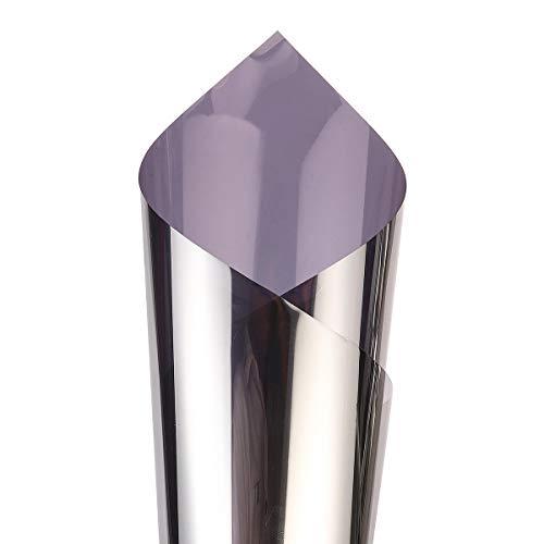 5 colores de decoración de espejo de una sola vía, pegatinas de aislamiento para ventana, vinilo de rechazo UV, privacidad, tintado (color: gris, tamaño: XS)