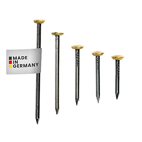 RIKAMA 50 Bildernägel | je 10 x 20, 25, 30, 40, 50 mm | Stahlbildernägel | Nägel | Stahlnägel | Aufhängung Bilder | Made in Germany
