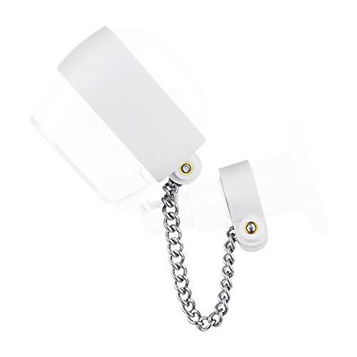 Wasserstein Cadena de seguridad antirrobo compatible con Arlo HD, seguridad adicional para tu cámara Arlo (1 unidad), color blanco