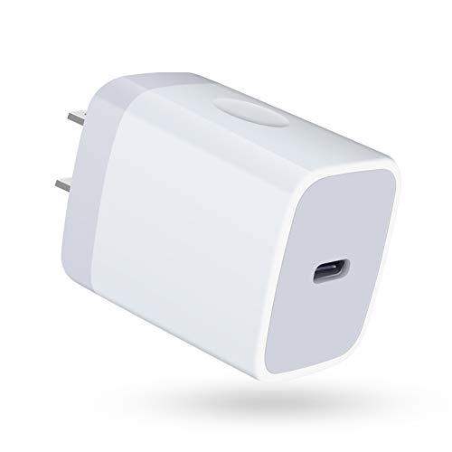 急速充電器iPhone ACアダプター USB-C電源アダプター タイプCコンセント 18W/ PD3.0 スマホ充電器 超小型急速充電器 アンドロイド充電アダプター iPhone12ウォールチャージャー iPhone 12 Mini / 12/12 Pro / 12 Pro Max iPad Air(第4世代) Android iPhone Max/iPad Pro/iPhone 11 Pro Max/iPhone X Pro Max/iPhone 8 Plus/AirPods Pro/Pixel3等対応(ホワイト)