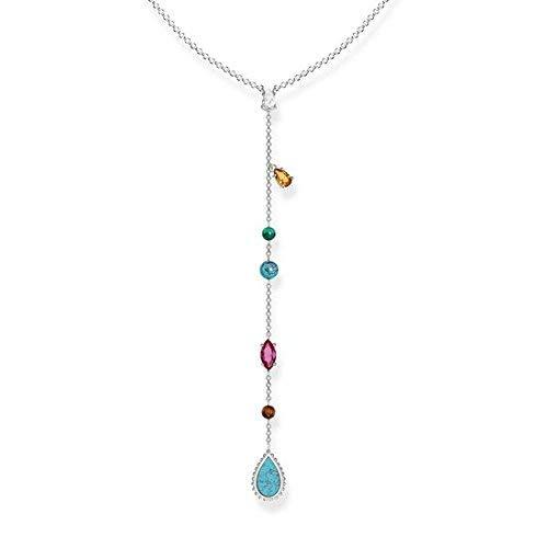 Thomas Sabo Damen-Halskette Glam & Soul Riviera Colours 925 Sterling Silber 50 cm KE1758-476-7-L50v