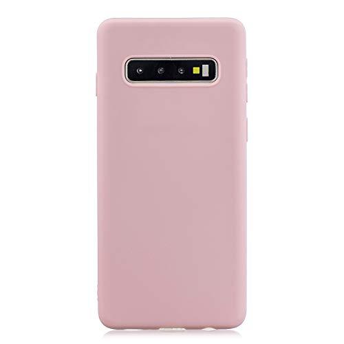 Everainy Kompatibel für Samsung Galaxy S10 Silikon Hülle Ultradünn Hüllen Handyhülle Gummi Case Schutzhülle Stoßfest TPU Gel Stoßstange Cover (pink 2)
