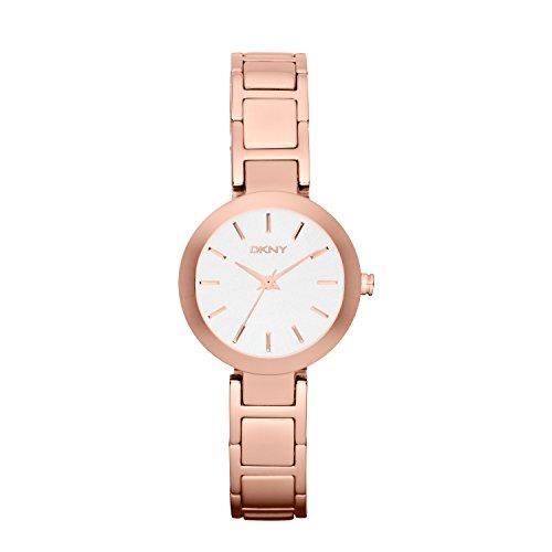 DKNY Damen Analog Quarz Uhr mit Edelstahl Armband NY2400