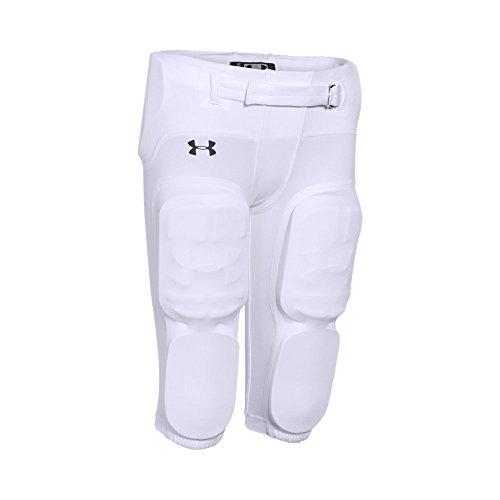 Under Armour Boys' Integrated Football Pants, White (100)/Black, Youth Medium