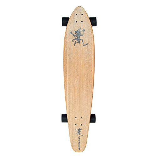 Apollo Longboard Hawaiian Wulff Kicktail Komplettboard mit High Speed ABEC Kugellagern, Freeride Skaten Cruiser Boards