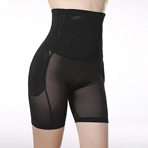 ZHYHAM Ropa interior de las mujeres cintura alta plana vientre caderas llenar las caderas en forma de ropa interior Internet de transpirable transparente culo de elevación