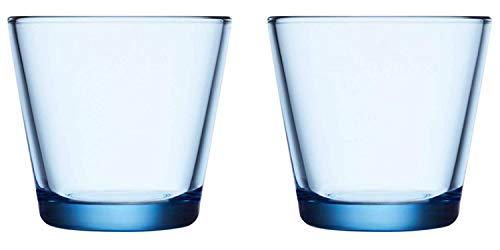 Iittala 1024679 Kartio Trinkglas, Glas, Aquablau