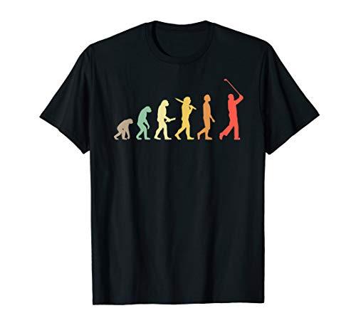 Retro Golf Evolution Geschenk für Golfer & Golfspieler T-Shirt