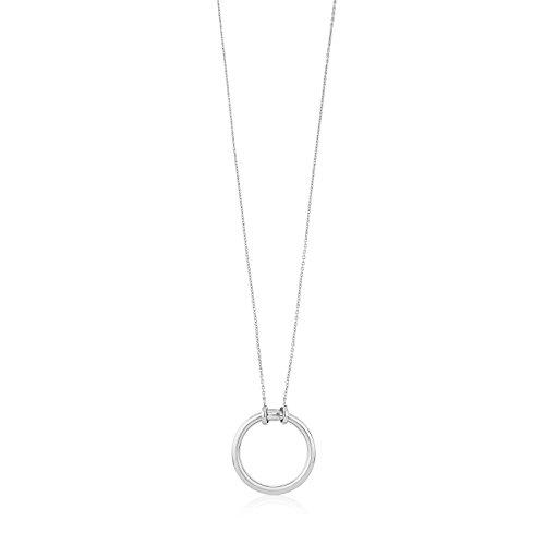 TOUS Collar con colgante mujer, Colección HOLD, plata primera Ley,