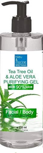 Aloe Vera Gel für Gesicht, Haare & Körper 200 ml - Sonnenbrand, Hautausschlag, Käfer