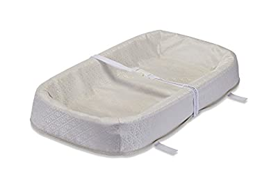 "LA Baby 4 Sided Changing Pad with Organic Layer, 30"" - Made in USA. Easy to Clean Waterproof Cover w/Non-Skid Bottom, Safety Strap, Fits All Standard Changing Tables for Best Infant Diaper Change"
