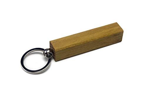 WoodBi Schlüsselanhänger aus Holz | 5 Holzarten | Schlüsselring Geschenk Anhänger | Gute Qualität aus Deutschland (Akazie, Kreis)