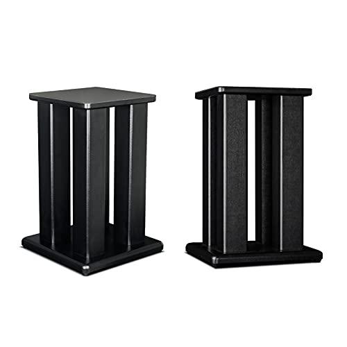 JIE KE Soporte universal para altavoz de piso, un par de soportes para altavoces de estantería pequeña y satélite, adecuado para hogar/oficina/estudio/teatro
