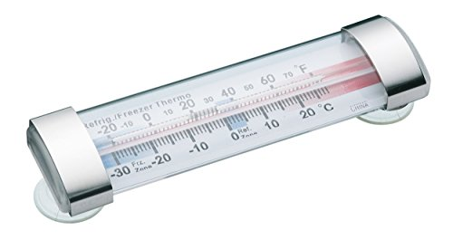 Kitchencraft termometro da frigo o da congelatore a pozzetto, con ventose, 12 cm