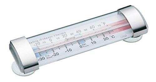 Kitchen Craft Gefrierschrankthermometer-30 bis +20°C mit Saugnäpfe in Transparent, Mischung aus Mehreren Materialien, 12 x 17 x 22 cm