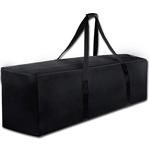 """COOLBEBE 47"""" Sports Duffle Bag - Extra Large Travel Duffel Luggage Bag with Upgrade Zipper, Durable & Water Resistant, Black"""