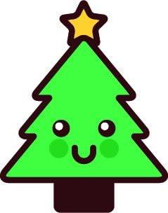 Amazon Com Adorable Cute Kawaii Merry Christmas Object Cartoon Vinyl Sticker 4 Tall Christmas Tree Automotive Animated gif images of christmas trees. adorable cute kawaii merry christmas
