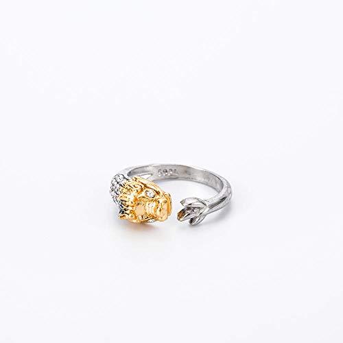 HDDWZH Woman Ring,Zwölf Tierzeichen Drache Verstellbarer Ring Tier Mode 12 Sternbilder Ring Frauen Mädchen Schmuck Zubehör Geburtstagsgeschenk