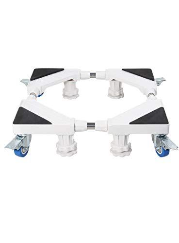 JISHIYU-Q Multifuncional Muebles Rodillo Base Ajustable movible Base de Nevera de Stands for Lavadora y Secadora Refrigerador (4 pies 4 Ruedas)