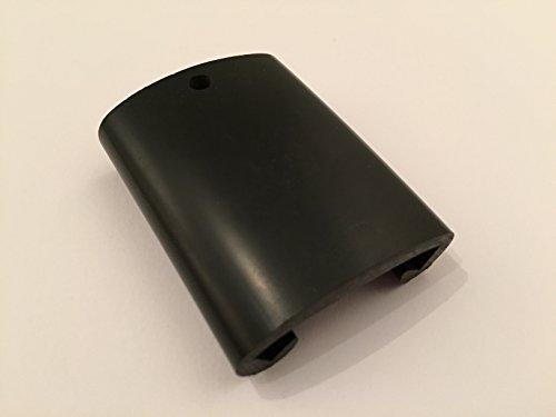 1m PVC Kunststoffhandlauf rot schwarz gold Handlauf Treppenhandlauf 50x8 mm Gummi Geländer (50 x 8, schwarz)