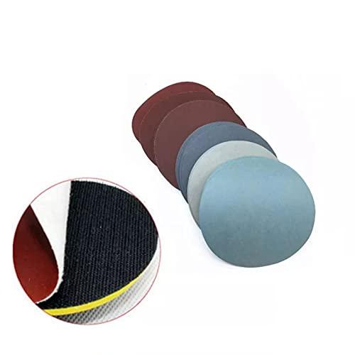 BINGXY 50 Piezas 4 Pulgadas 100 mm Disco de Papel de Lija Redondo Hojas de Lija Grano # 40 - Disco de Lijado de Gancho y Bucle # 7000