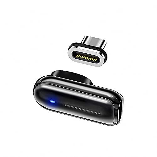 TYPE Cマグネット接続変換アダプタ USB3.1 GEN 2 10Gbps 4K 60HZ高速データ転送 L型 ブラック 断線防止 磁気簡単接続 PC,MacBook, Android,Switchなどに対応