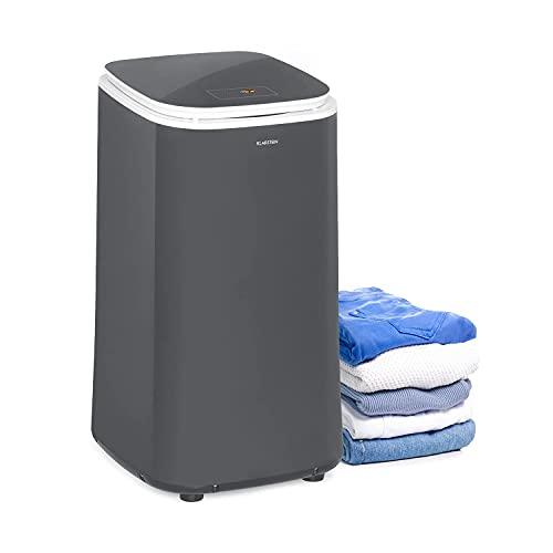 KLARSTEIN Zap Dry - Asciugatrice, 820 W, Capacità: 50 L, Salvaspazio, Cestello in Acciaio Inox, Alloggiamento in Plastica, Pannello di Controllo Touch, Display LED, Grigio