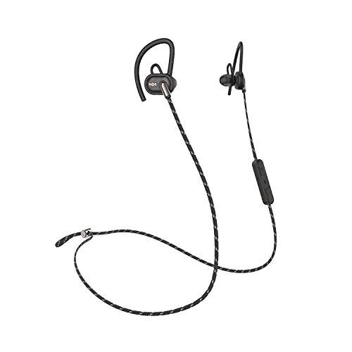 House of Marley Uprise In-Ear Kopfhörer, 8 Std. Akkulaufzeit, Schweiß- und Wetterfest (IPX5), anpassbare Passform, integrierte Steuerung & Mikrofon, verwicklungsfreies, umwebtes Kabel, black