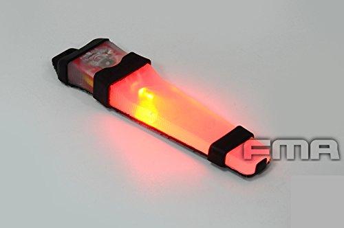 ATAIRSOFT Sicherheitshelm leuchtet mit LED VLAV Lite Strobe Taschenlampe für Outdoor Camping Tactical Airsoft Black Base Red Light