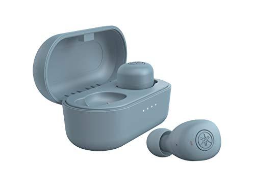 ヤマハ 完全ワイヤレスイヤホン TW-E3B(A) : リスニングケア /Bluetooth /最大6+18時間再生 /生活防水IPX5相当 /専用アプリ対応 /AAC・aptX対応 /マイク搭載 スモーキーブルー