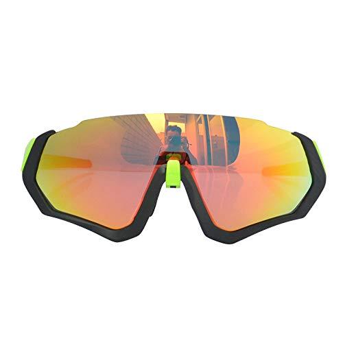 Gafas De Sol Polarizadas para Hombres Antirreflejos Protección UV Montura Negra Lente Naranja Gafas De Sol De Gran Tamaño Gafas De Ciclismo para Exteriores Deportes Conducción Gafas De Ci