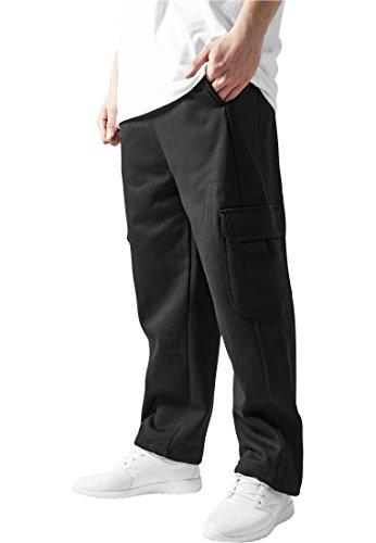 Urban Classics Herren Cargo Sweatpants Hose, Schwarz, W36/L33 (Herstellergröße: XL)