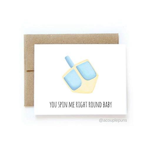 Dreidel Card // Funny Hanukkah Card, Happy Hanukkah Cards, Punny Hanukkah Card, Menorah Gift