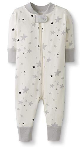 Moon and Back by Hanna Andersson Pyjama sans pied en coton bio pour tout-petits, bébés, Étoile grise, 3 ans (87-97 CM)