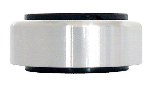 Dynavox Aluminium-Füsse für HiFi-Geräte, 4er-Set, polierte Füße mit hoher Stabilität und Gummi-Dämpfern, Silber