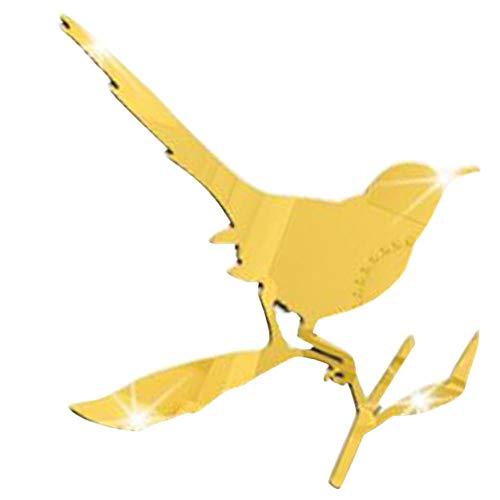 WXXW 1 Piezas de Espejo Pegatina de El Pájaro en La Rama de Espejos Autoadhesivos de