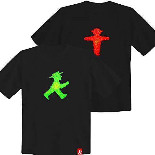 Tshirt Ampelmännchen schwarz - DDR Produkte - für Ostalgiker