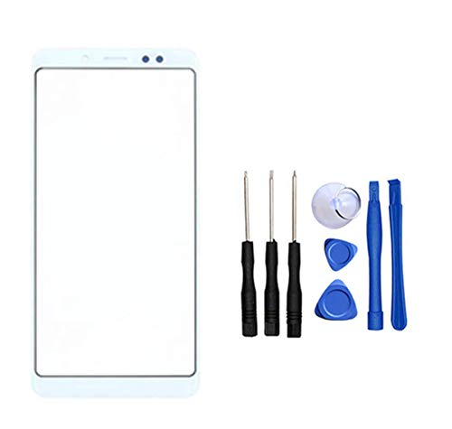 Snailcanfly Lente Superior para Xiaomi Redmi Note 5 AI Dual Camera M1803E7SG M1803E7SH / Note5 Pro MEI7S MEI7 5.99inch Glass Outer Screen Cover Repair Parts (Not LCD Not Digitizer) Blanco