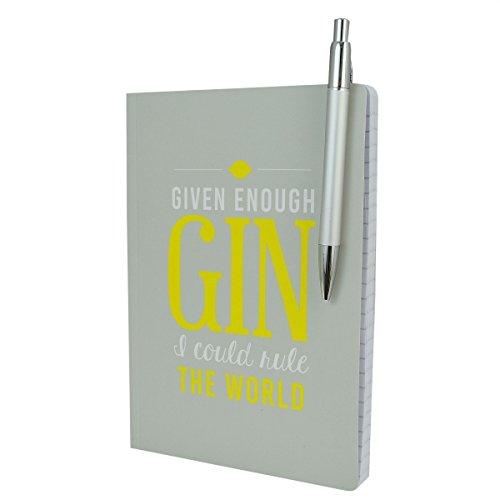 ausreichend Gin I Could Rule The World Notizbuch und Stift Set