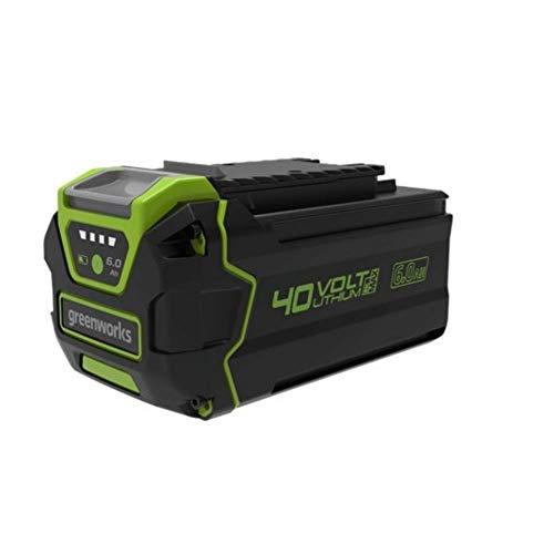 Greenworks 40V Batería de 2ª generación G40B6, batería Li-Ion 40V 6Ah recargable de alto rendimiento apta para todos los dispositivos de la serie 40V Greenworks