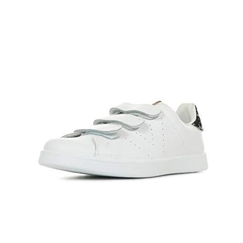 Victoria Tenis Velcros Piel/Leopardo, Zapatillas Unisex Adulto, Plateado (Plata 14), 40 EU