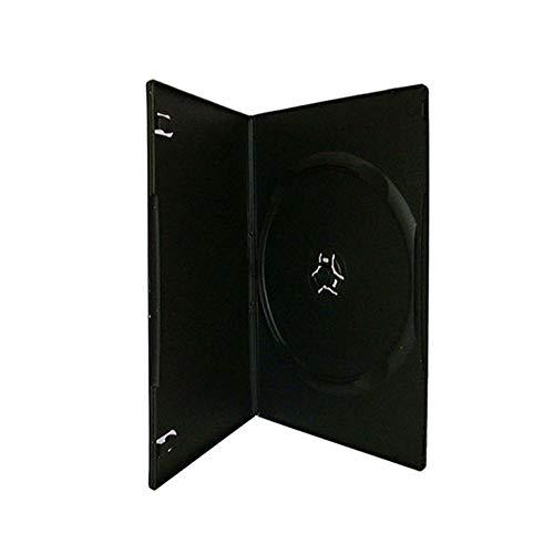 Maxtek 7mm Slim Black Single CD/DVD Case, 100 Pieces Pack.