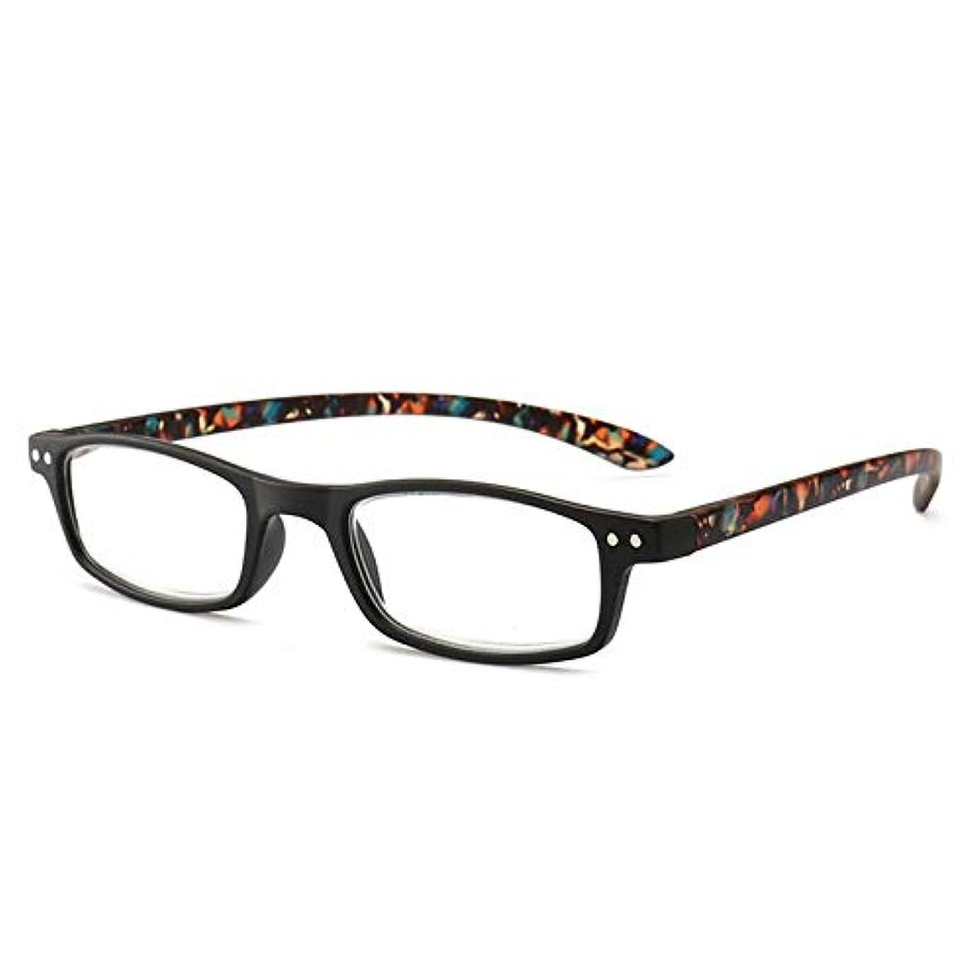 労苦教師の日スタッフT128老眼鏡視度+1.0?+4.0女性男性フルフレームラウンドレンズ老視メガネ超軽量抗疲労-ブラック400