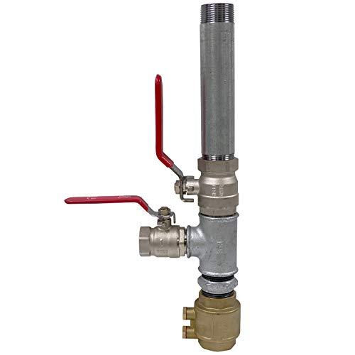 Doppelter Pumpenstock 1 1/4 Zoll Brunnen Rückschlagventil...